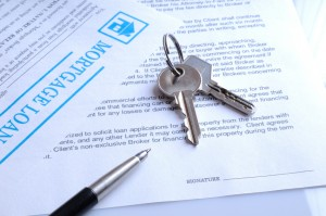 Mortgage contract for signature and keys